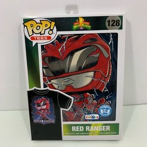 Pop Tees 128 Red Ranger Shirt Size XL